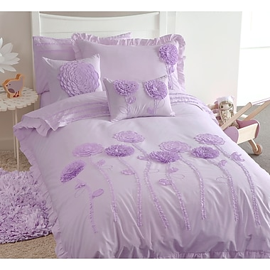 Maholi KIDS Floret Lilac Duvet Cover Set, Full/Queen