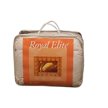 Royal Elite – Couette de plumes, contexture de 233 fils, grand lit, 64 oz