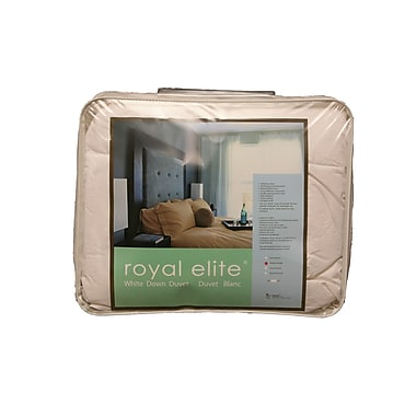 Royal Elite White Duck Down Duvet, 233 Thread Count, Queen, 25 Ounces