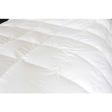 Royal Elite Canadian White Down Duvet, 260 Thread Count, Queen, 25 Ounces