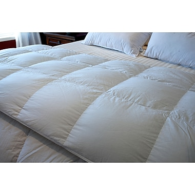 Royal Elite European White Down Duvet, 260 Thread Count, Queen, 25 Ounces