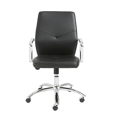 Euro Style™ Napoleon Leather Low Back Office Chairs