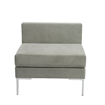 Euro Style™ Vittorio Fabric Armless Sofa Unit, Gray