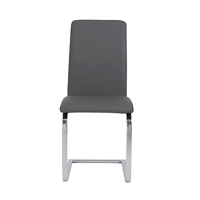 Euro Style™ Cinzia Leatherette Side Chair, Gray