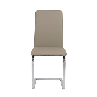 Euro Style™ Cinzia Leatherette Side Chair, Taupe
