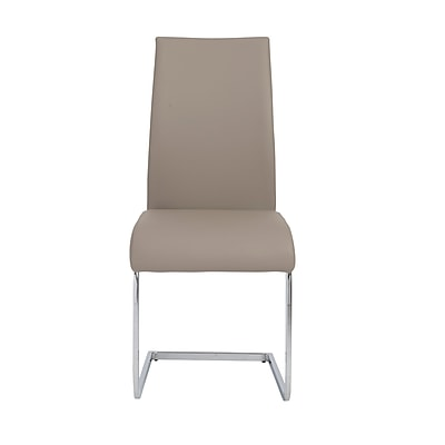 Euro Style™ Epifania Leatherette Side Chair, Taupe