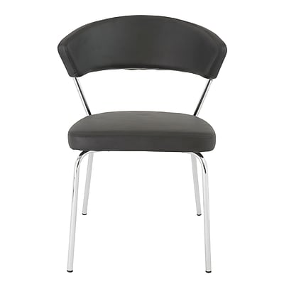 Euro Style™ Draco Leatherette Side Chair, Black