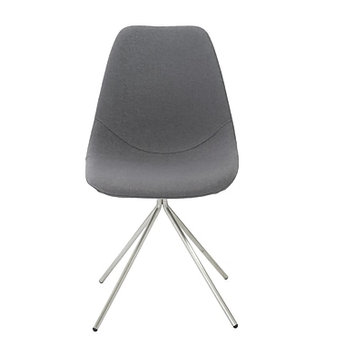 Euro Style™ Dax Fabric Side Chair, Gray