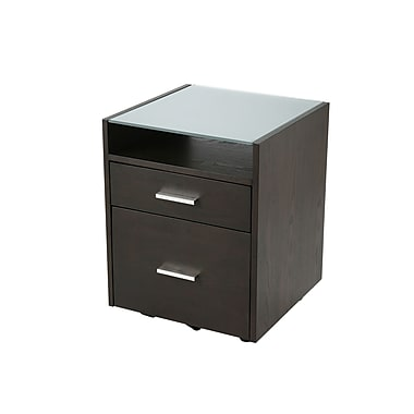 Euro Style Ballard 2 Drawer Vertical File, Brown,Letter/Legal, 19''W (27372)
