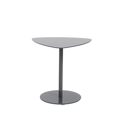 """""Euro Style Sarafina 20 1/2"""""""" x 23"""""""" x 22"""""""" Glass 3 Piece Side Table Set, Gray"""""" 1236491"