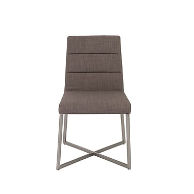 Euro Style™ Tosca Fabric Side Chair, Dark Gray