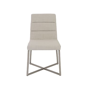 Euro Style™ Tosca Fabric Side Chair, Light Gray