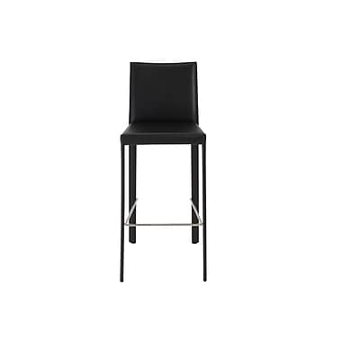 Euro Style™ Hasina Leather Bar Stools