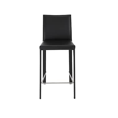 Euro Style™ Hasina Leather Counter Stools