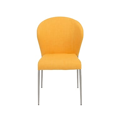 Euro Style™ Sy Fabric Side Chair, Yellow