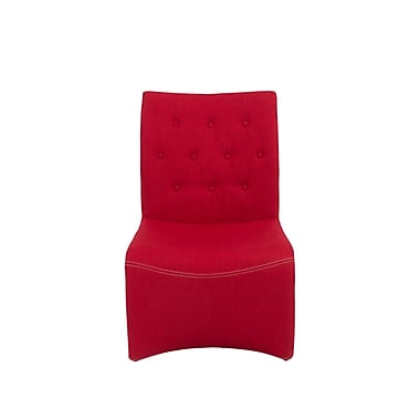 Euro Style™ Ville Fabric Lounge Chair, Red