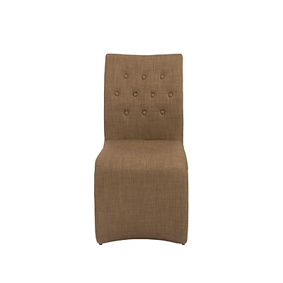 Euro Style™ Zad Fabric Side Chair, Mocha