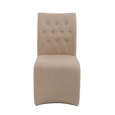 Euro Style™ Zad Fabric Side Chair, Tan