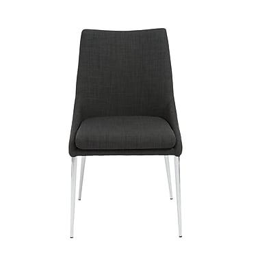Euro Style™ Tarnana Fabric Side Chair, Charcoal
