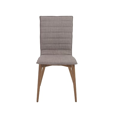 Euro Style™ Yoland Fabric Side Chair, Gray