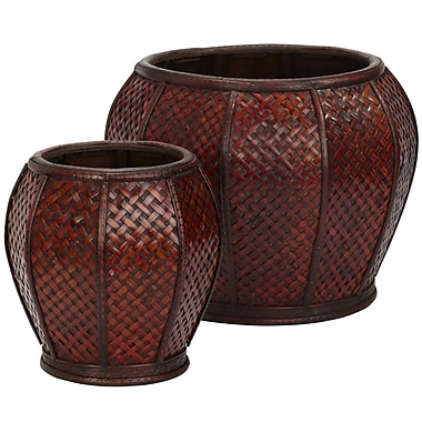 Nearly Natural 513 Weave Planters Set of 2