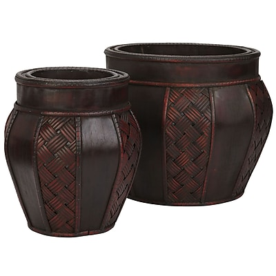 Nearly Natural 516 Wood Planters Set of 2