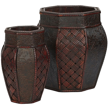Nearly Natural 517 Weave Panel Planters Set of 2