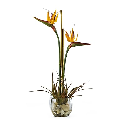 Nearly Natural 1052 Bird of Paradise Floral Arrangements, Orange