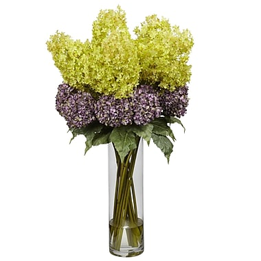 Nearly Natural 1222 Giant Mixed Hydrangea Floral Arrangements, Purple