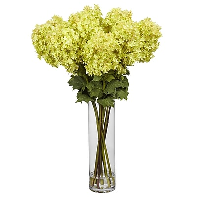 Nearly Natural 1223 Giant Hydrangea Floral Arrangements, Yellow