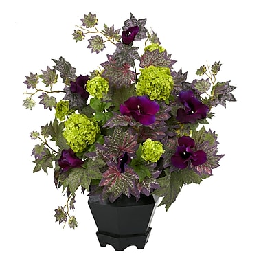 Nearly Natural 1259 Morning Glory Hydrangea Floral Arrangements, Green