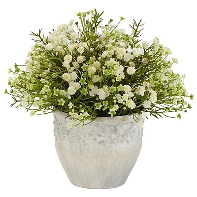 Nearly Natural 4125 Mini Daisy Plant in Pot