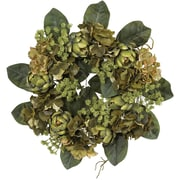 "Nearly Natural 4628 18"" Artichoke Wreath, Green"