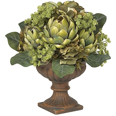 Nearly Natural 4635 Artichoke Centerpieces, Green