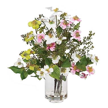 Nearly Natural 4687 Dogwood Silk Floral Arrangements, Assorted