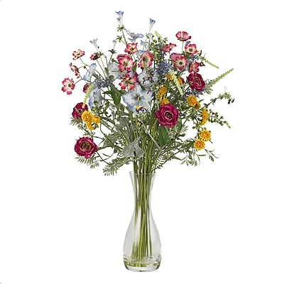 Nearly Natural 4696 Veranda Garden Floral Arrangements, Purple