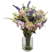 Nearly Natural 4760 Lavender and Hydrangea Floral Arrangements, Green