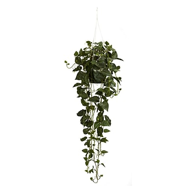 Nearly Natural 4762 Philodendron Hanging Plant in Basket