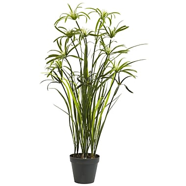 Nearly Natural 4763 3' Papyrus Silk Plant in Pot