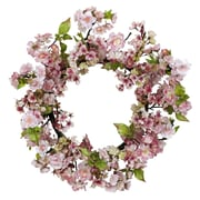 """Nearly Natural 4783 24"""" Cherry Blossom Wreath, Pink"""