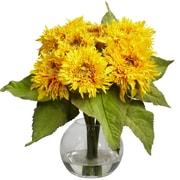 Nearly Natural 4906 Golden Sunflower Floral Arrangements, Yellow