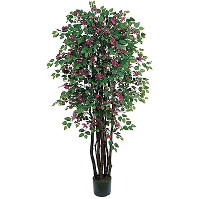 Nearly Natural 5021 6' Bougainvillea Silk Tree in Pot