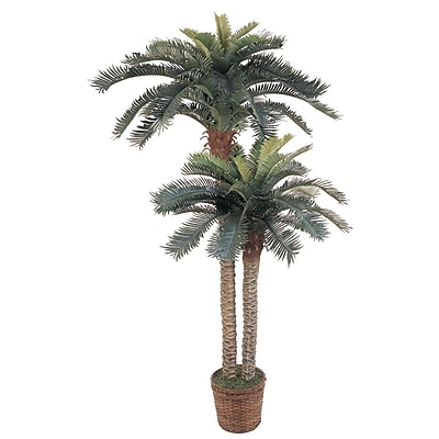 Nearly Natural 5033 Sago Palm Double Potted Tree in Basket