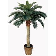 Nearly Natural 4' Sago Silk Palm Tree in Decorative Vase (5043)