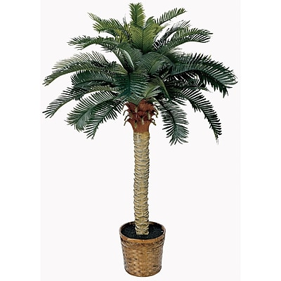 Nearly Natural 5043 4' Sago Silk Palm Tree in Decorative Vase