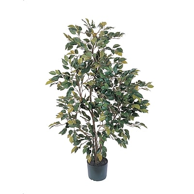 Nearly Natural 5074 4' Ficus Silk Tree in Pot