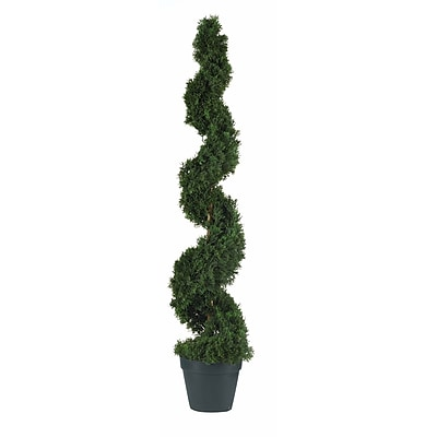 Nearly Natural 5076 4' Cedar Spiral Silk Tree in Pot