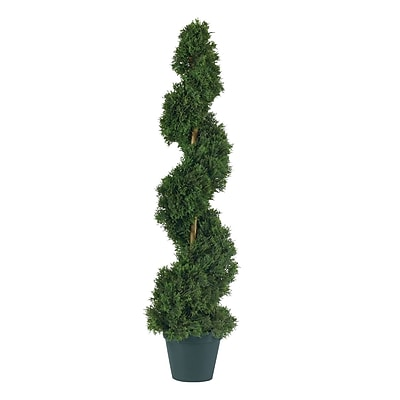 Nearly Natural 5161 3' Cedar Spiral Plant in Pot