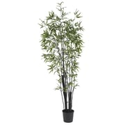 Nearly Natural 5164 6' Black Bamboo Silk Tree in Pot