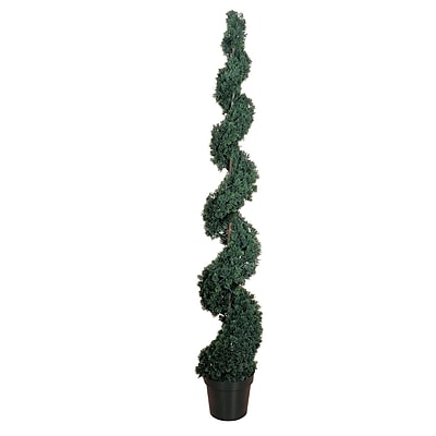 Nearly Natural 5167 6' Cedar Spiral Plant in Pot